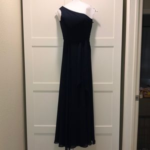 Amsale Bridesmaid Dress in Midnight Blue Sz 0